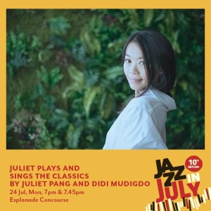 Juliet Plays & Sings The Classics for Jazz in July 2017
