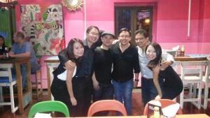 Friends @BluJaz,Singapore (L-R: Rachma, Eugene, Alvin, Dan, Didi, Juliet)