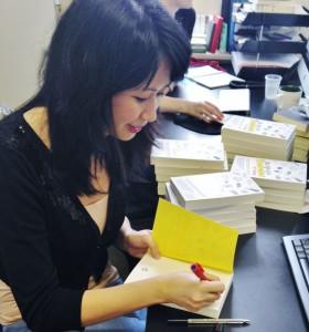 P.P. Wong at book-signing event